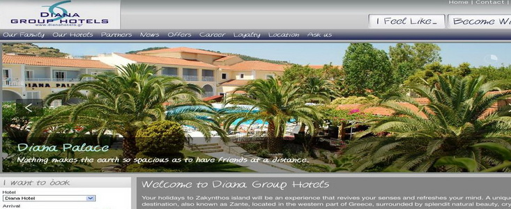 Diana Hotels new website